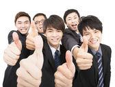 Sukces firmy zespół z kciuki — Zdjęcie stockowe
