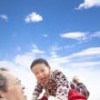 Happy asian kid play with father — Stock Photo #20640737