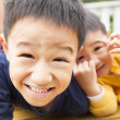 Close up of two happy asian little boy — Stock Photo #20641003