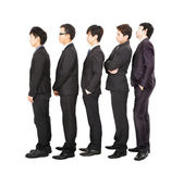 Business standing in a line and waiting — Stock Photo