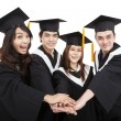 Happy young graduate students group with success gesture — Stock Photo #22661285