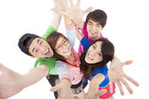 Happy young group having fun — Stock Photo