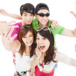Happy asian young group enjoy summer party — 图库照片