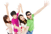 Group of summer young together — Stock Photo
