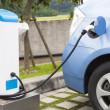 Stock Photo: The power supply for Charging of an electric car