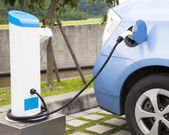 The power supply for Charging of an electric car — Stock Photo