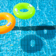 Two swimming pool rings with shadow — Zdjęcie stockowe