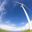 Stock Photo: Windmill and Wind power generation
