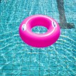 Swimming pool rings on the water — Stock Photo