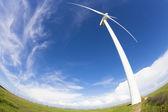 Windmolen en wind elektriciteitsproductie — Stockfoto