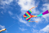 Colorful kite flying in the sky — Stock Photo