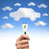 Groene energie en elektrische auto concept — Stockfoto