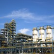 Chemical Industrial Plant  against the blue sky — Stock Photo
