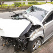 Car accident and wrecked car on the road — Stock Photo #37667921
