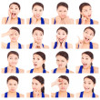 Stock Photo: Asiyoung womfacial expressions