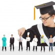 Graduation male student have different  careers to choose. — Stock Photo #41194087