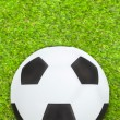 Stock Photo: Soccer ball on field