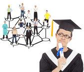 Posgrado pensando en su planificación de carrera — Foto de Stock
