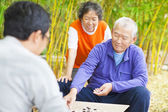 Seniors play traditional chinese board game Go — 图库照片