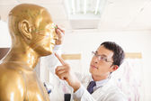 Chinese medicine doctor point  acupoint on human model — Stock Photo