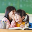 Cute little girls whisper to sister — Stock Photo #43277069