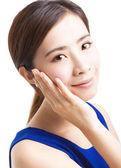 Close up beautiful young asian Woman face — Stock Photo