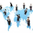 Global graduation Student social network — Stock Photo