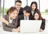 Professional asian business team working in office — Stock Photo
