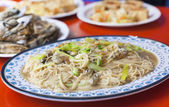 Chinese and Taiwan traditional famous food - oyster thin noodle — Stock Photo