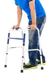 Close up of young man on  mobility aids — Stock Photo