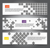 Cross pattern web banner — Stock Vector