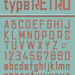 Retro style font — Stock Vector #21509225