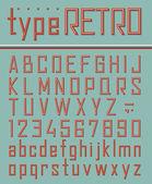 Retro style font — Stock Vector