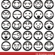 Vector emotion icons — Image vectorielle