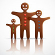 Gingerbread man family — Stock Vector