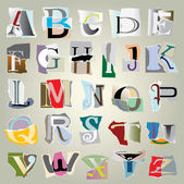 Vector set alphabet — Stock Vector