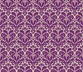 Seamless floral vintage damask background — Stock Vector