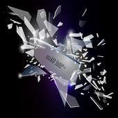 Broken glass design — Stock Vector