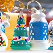 New Year's Decorative  figures for a fir — Stock Photo