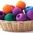 Stock Photo: Basket crafts and sewing