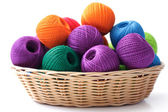 Basket crafts and sewing — Stock Photo