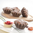 Some small round fruitcakes with raisin. — Stock Photo