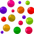 Multicolored bubbles on a white background — Stock Photo