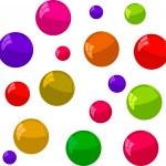 Multicolored bubbles on a white background — Stock Photo