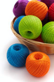 Several balls for crochet — Stock Photo