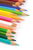 Colour pencils over white — Stock Photo
