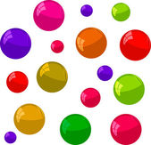 Multicolored bubbles on a white background — Stok fotoğraf