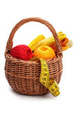 Craft basket, isolated — Stock Photo