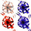 Gift bows on white background, top view. — ベクター素材ストック