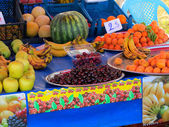 Fruit sold on the promenade along the beach, — Stock Photo